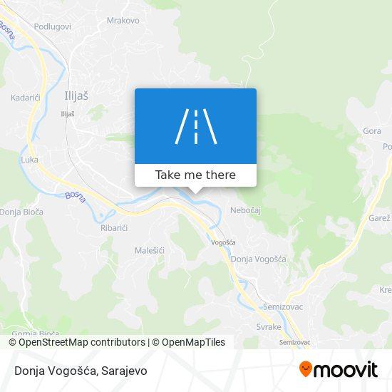 Donja Vogošća map