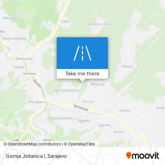 Gornja Jošanica I map
