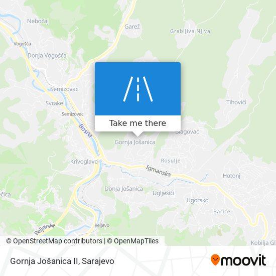 Gornja Jošanica II map