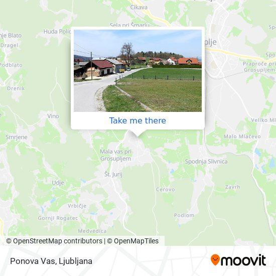 Ponova Vas map