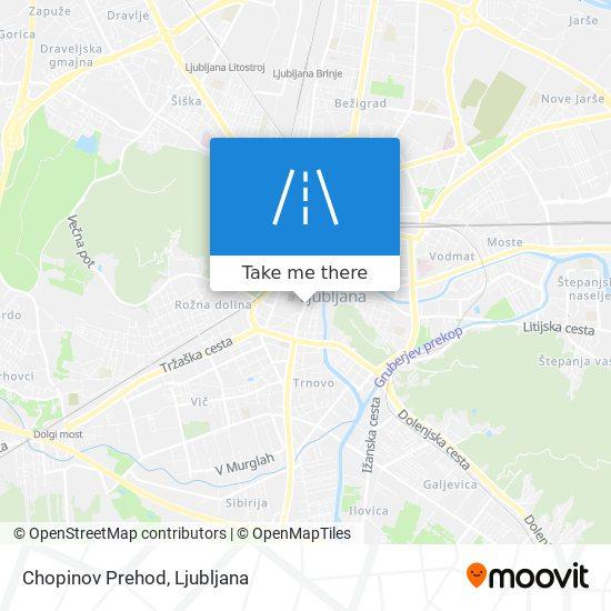 Chopinov Prehod map