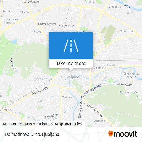 Dalmatinova Ulica map