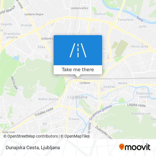 Dunajska Cesta map