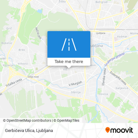 Gerbičeva Ulica map