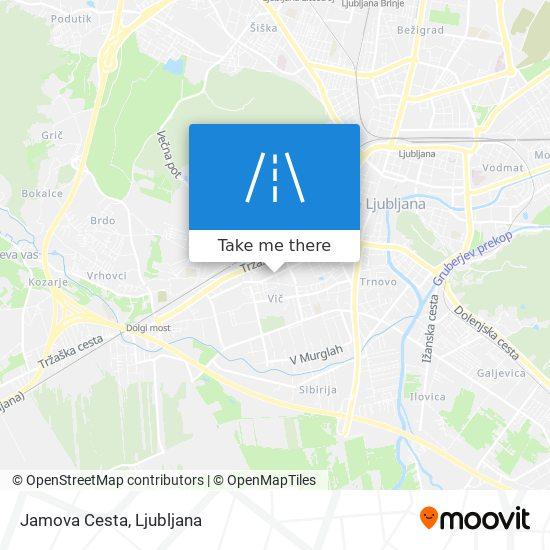 Jamova Cesta map
