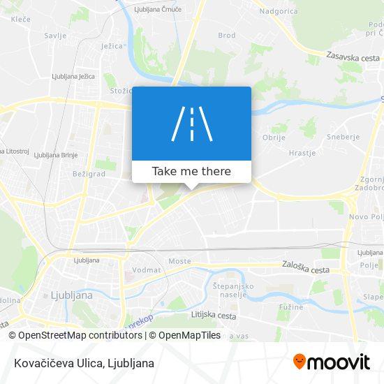 Kovačičeva Ulica map