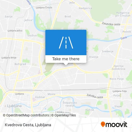 Kvedrova Cesta map