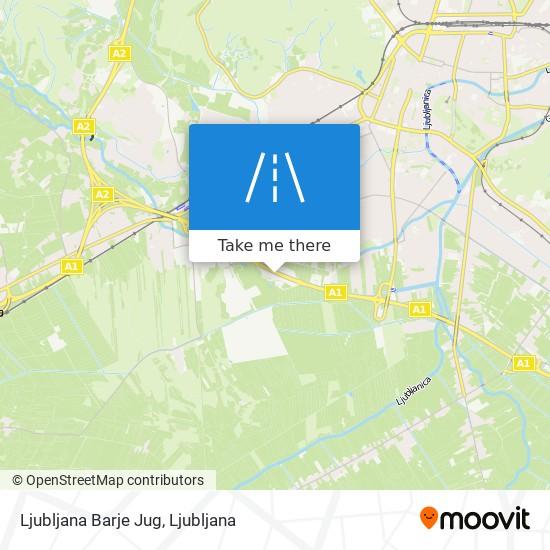 Ljubljana Barje Jug map