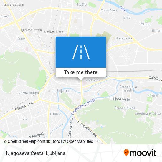 Njegoševa Cesta map