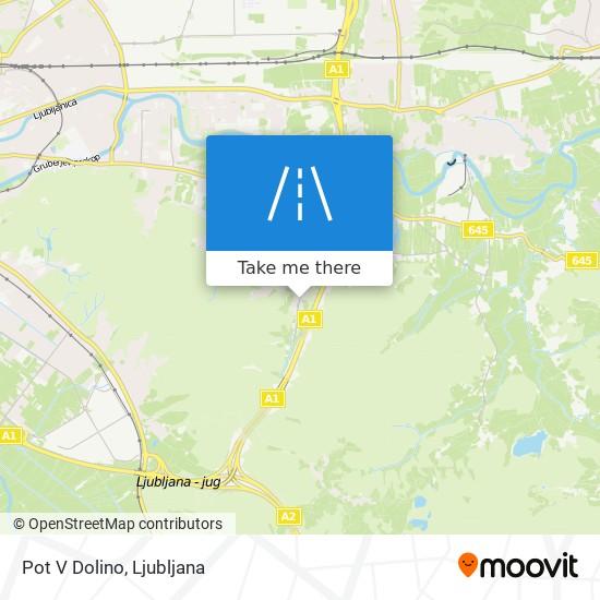 Pot V Dolino map