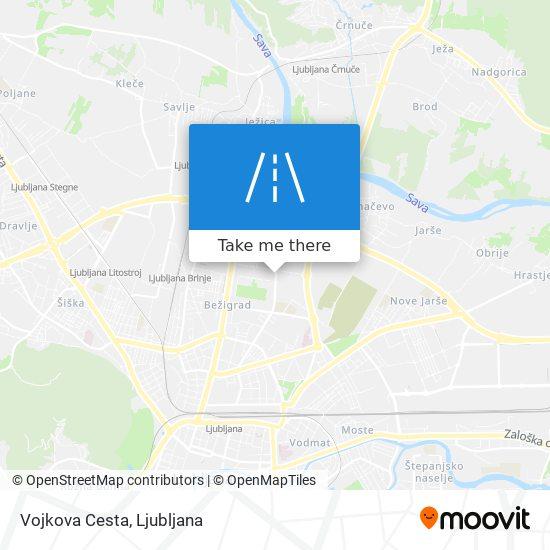 Vojkova Cesta map