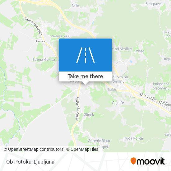 Ob Potoku map