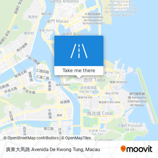 廣東大馬路 Avenida De Kwong Tung map