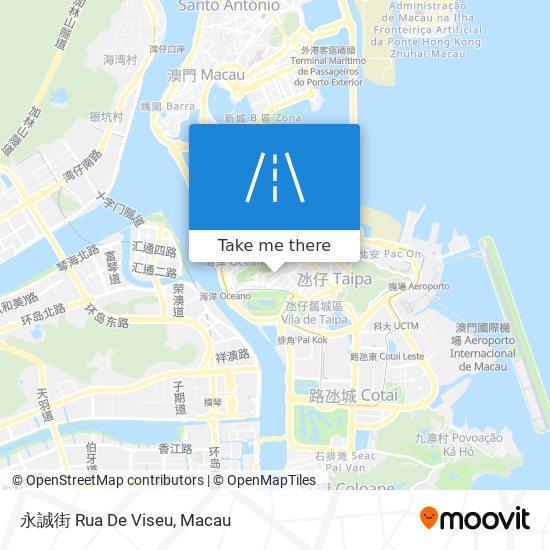永誠街 Rua De Viseu map