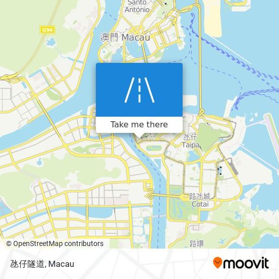氹仔隧道 map