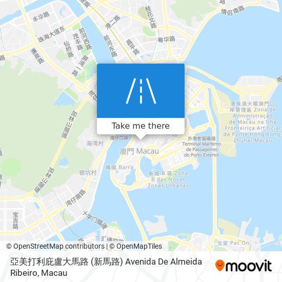 亞美打利庇盧大馬路 (新馬路) Avenida De Almeida Ribeiro map