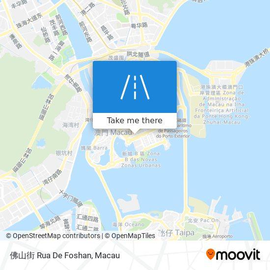 佛山街 Rua De Foshan map