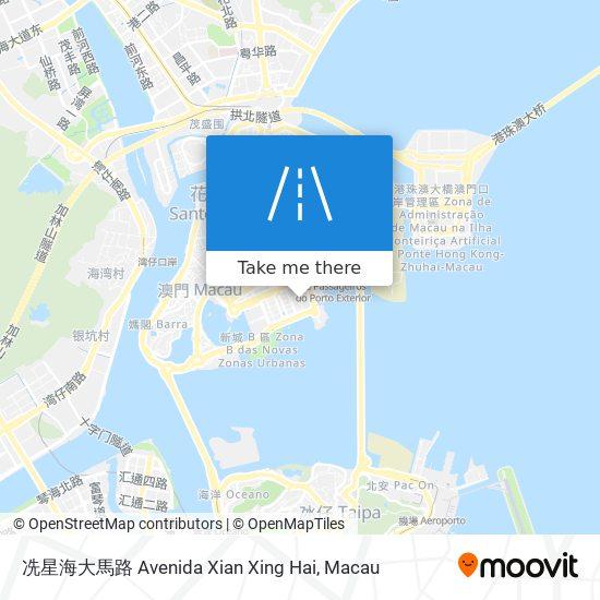冼星海大馬路 Avenida Xian Xing Hai map