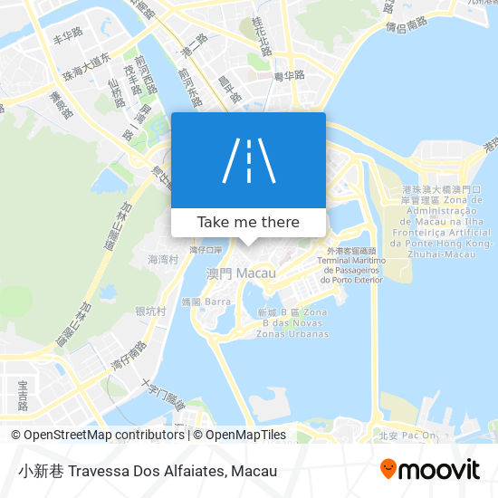 小新巷 Travessa Dos Alfaiates map