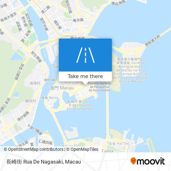 長崎街 Rua De Nagasaki map