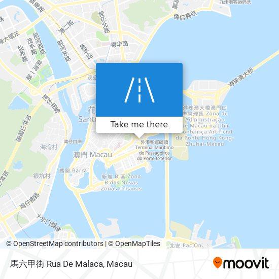 馬六甲街 Rua De Malaca map