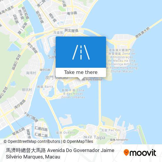 馬濟時總督大馬路 Avenida Do Governador Jaime Silvério Marques map