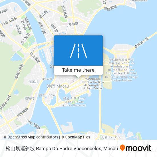 松山晨運斜坡 Rampa Do Padre Vasconcelos map