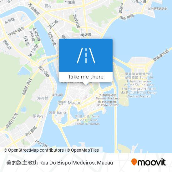 美的路主教街 Rua Do Bispo Medeiros map