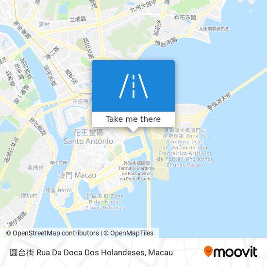 圓台街 Rua Da Doca Dos Holandeses map