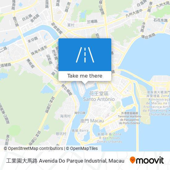工業園大馬路 Avenida Do Parque Industrial map