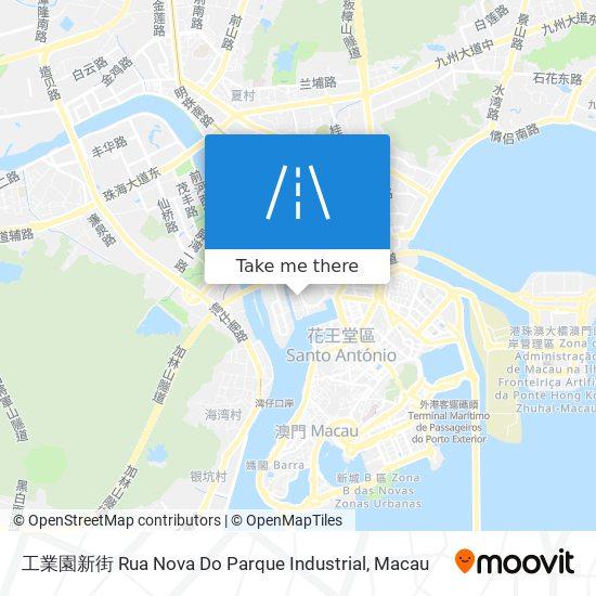 工業園新街 Rua Nova Do Parque Industrial map
