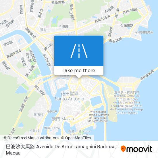 巴波沙大馬路 Avenida De Artur Tamagnini Barbosa map