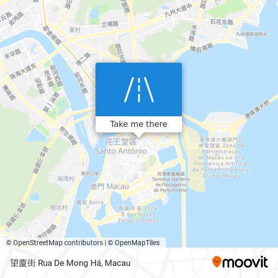 望廈街 Rua De Mong Há map