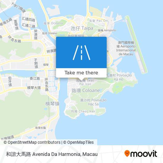 和諧大馬路 Avenida Da Harmonia map