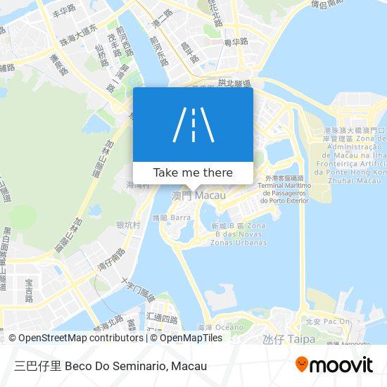三巴仔里 Beco Do Seminario map