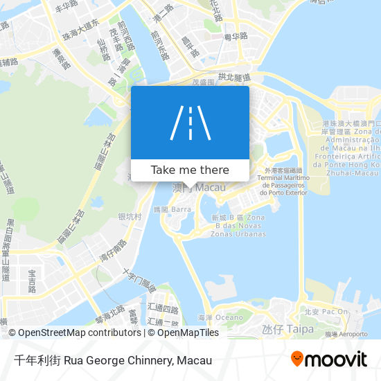 千年利街 Rua George Chinnery map