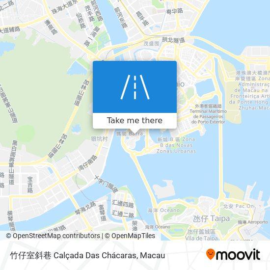竹仔室斜巷 Calçada Das Chácaras map