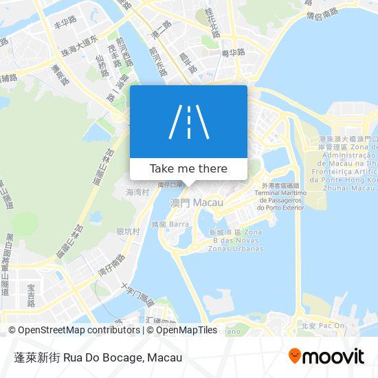 蓬萊新街 Rua Do Bocage map