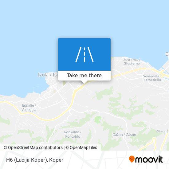 H6 (Lucija-Koper) map