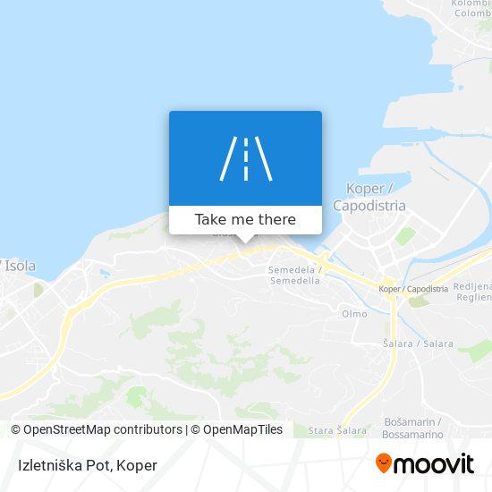 Izletniška Pot map