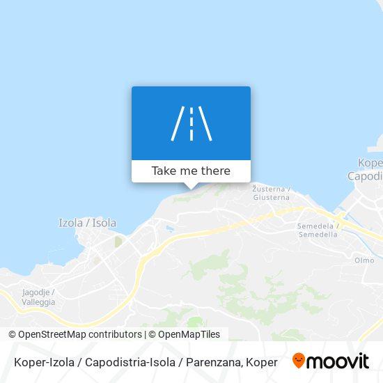 Koper-Izola / Capodistria-Isola / Parenzana map