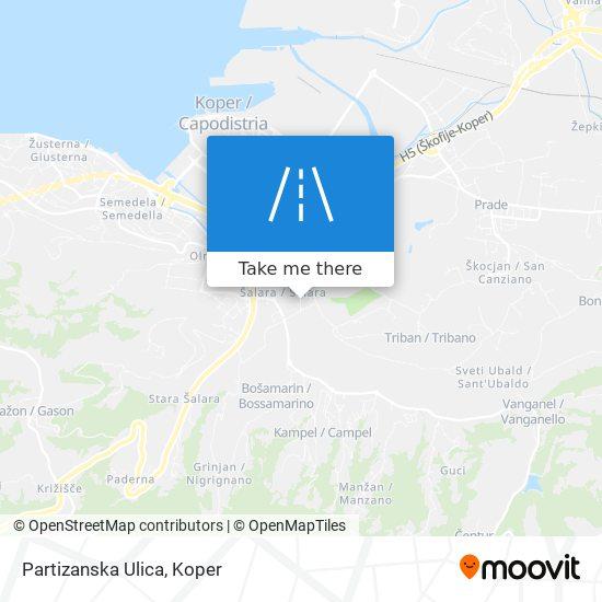 Partizanska Ulica map