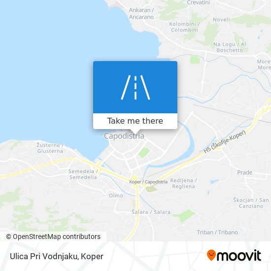 Ulica Pri Vodnjaku map