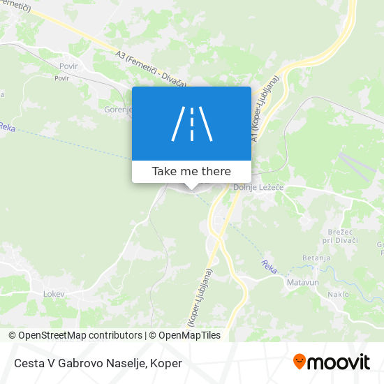 Cesta V Gabrovo Naselje map