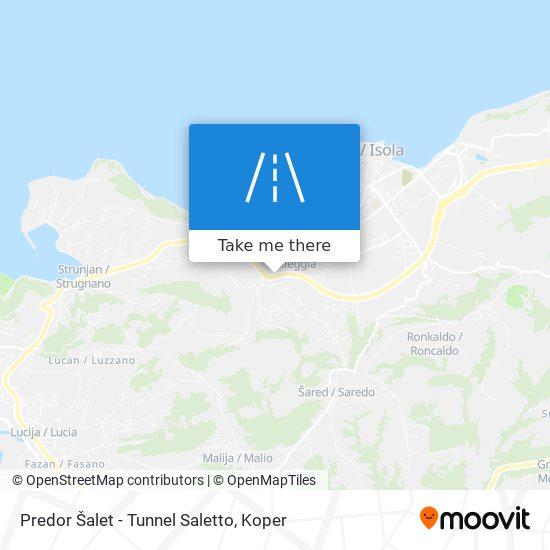 Predor Šalet - Tunnel Saletto map