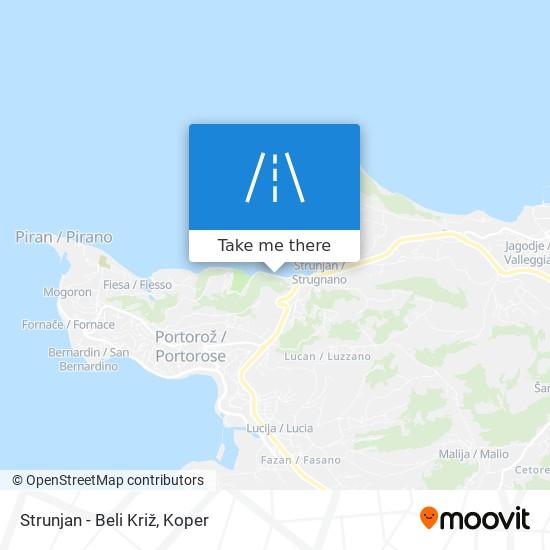 Strunjan - Beli Križ map