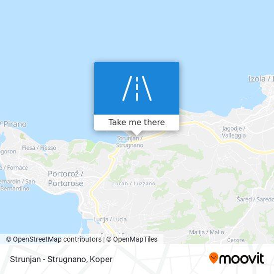 Strunjan - Strugnano map