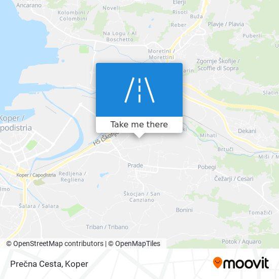 Prečna Cesta map