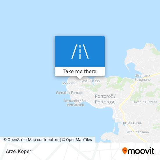 Arze map