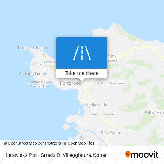 Letoviska Pot - Strada Di Villeggiatura map